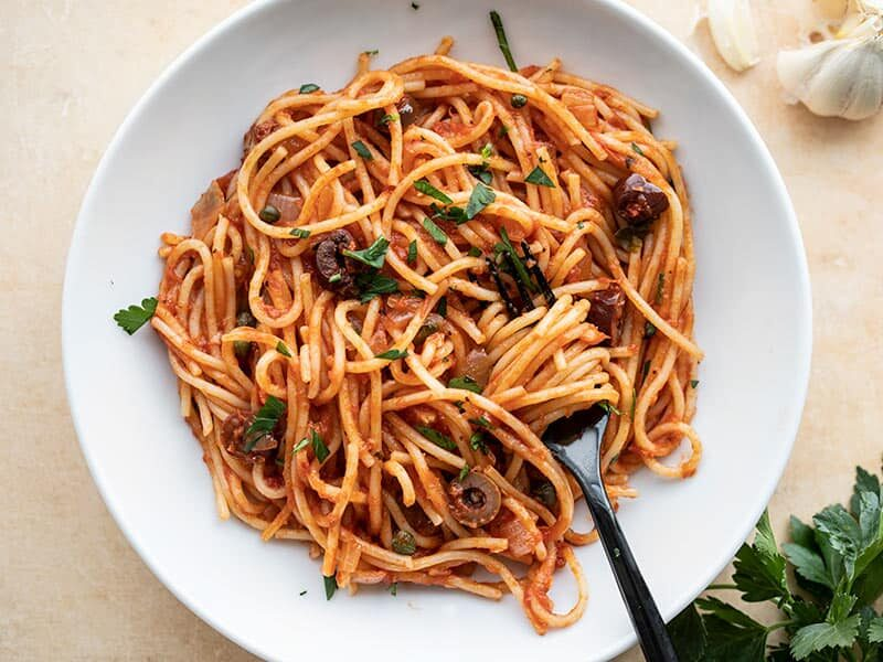 Eat Drink Explore Spaghetti Puttanesca Roger Bissell